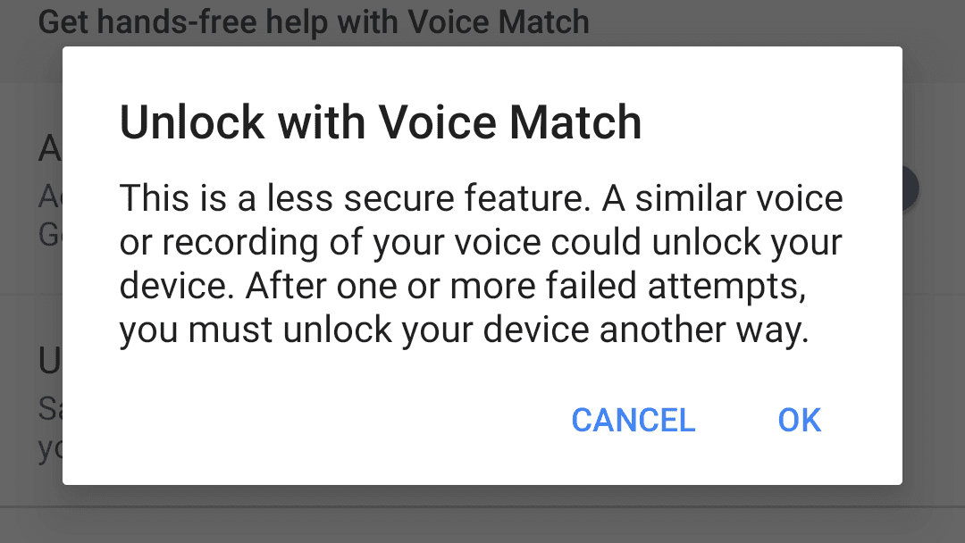 Unlock Phone with Google Assistant
